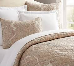 What Is A Coverlet Used For Audrey Paisley Print Quilt U0026 Sham Pottery Barn