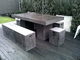 cement table and bench home design mesmerizing outdoor cement table marvelous concrete full