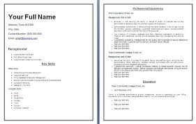 receptionist resume templates 24 pics of receptionist resume template mikeperrone me