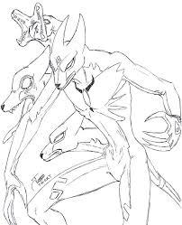 alien werewolf sketch by zmorphcom on deviantart