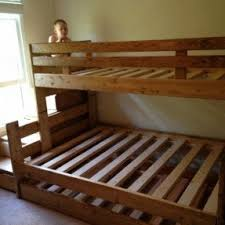 Solid Wood Bunk Beds With Stairs Foter - Wooden bunk bed with trundle