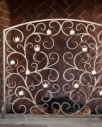 decorative fireplace screens michael aram palm decorative