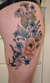 girly leg tattoo designs best 20 feminine thigh tattoos ideas on pinterest lion thigh