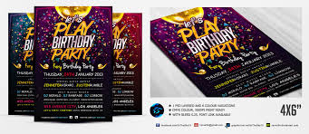 let u0027s play birthday party flyer template by ranvx54 on deviantart