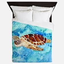 Sea Turtle Bed Sheets Watercolor Sea Turtle Bedding Cafepress