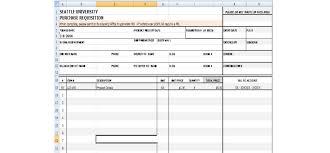 4 requisition form templates excel xlts