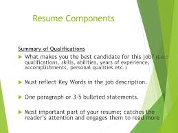 stunning personal qualifications on resume pictures simple