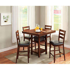 5 Piece Pub Table Set Counter Height Dining Set Ebay