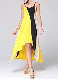 yellow block color dresses dresshead