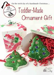 salt dough ornament and gift box a gift from your toddler
