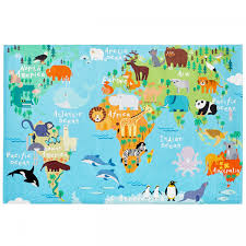 Kids World Map My Torino Kids Tok 233 World Map Rug Therugshopuk