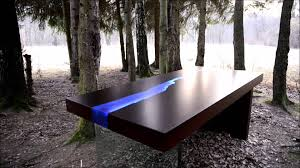 Lit Coffee Table Kasparo I Amazing Table With Resin And Led Technology Comes Alive