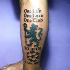 keep the blues flag flying high tattoo tattoos chelseafc