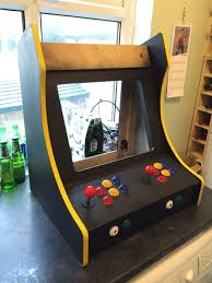 Cocktail Arcade Cabinet Kit 2 Player Bartop Arcade Machine Powered By Pi 19 Steps With