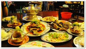 table full of food sweet pinkylicious thai food with friends