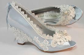 wedding wedges shoes light blue wedding wedges lace wedge bridal peeptoe wedge