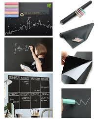 Chalk Board Wall Stickers Amazon Com Fancy Fix Blackboard Vinyl Peel And Stick Self