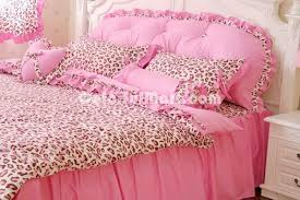 Cheetah Print Comforter Queen Pink Cheetah Print Bedding Home Design Ideas
