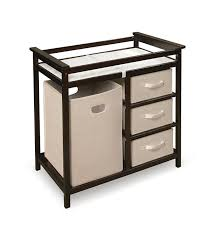 amazon com badger basket modern changing table with hamper 3