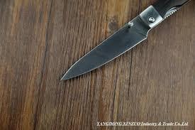fostfrei 440 pocket folding kitchen chef knife dark tagayasan wood