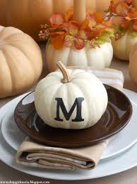 Fall Table Settings by Monogrammed Pumpkin Fall Table Setting A Homemade Living