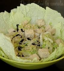 cuisiner chou chinois salade de chou chinois au tofu et aux algues