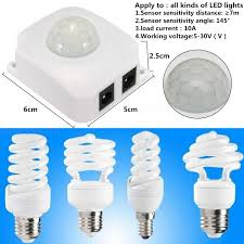 12v automatic pir infrared sensor light switch save energy motion