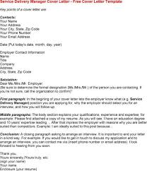 service delivery manager cover letter terrific it service