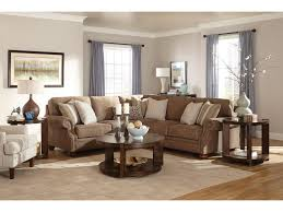 Broyhill Living Room Furniture Broyhill Furniture Heuer Traditional Sectional Sofa With Nail