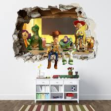 toy story wall stickers ebay toy story smashed wall sticker bedroom boys disney vinyl wall art