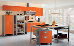 Orange And White Kitchen Ideas Interior Exterior Plan Orange Themed Idea For Modern Kitchen