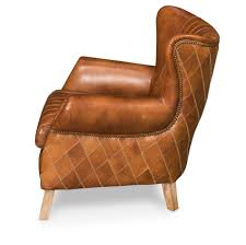 Vintage Brown Leather Chair Bugatti Arm Chair Sarreid Ltd Portal Your Source For The