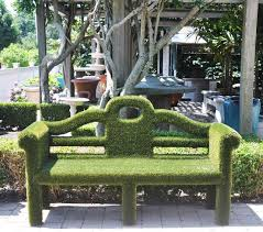 lutyens faux grass bench mecox gardens