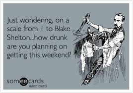 Blake Shelton Meme - just wondering on a scale from 1 to blake shelton how drunk are