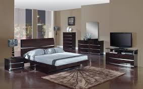 Modern Queen Size Bed Frame Aurora Wenge Queen Size Bed Aurora Global Furniture Usa Modern