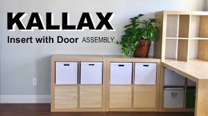 Kallax Filing Cabinet How To Assemble The Ikea Kallax Insert With Door