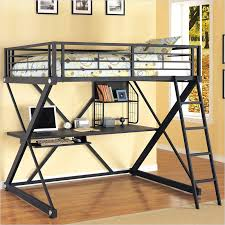Furniture Your Zone Bunk Bed by Metal Loft Twin Bed Metal Twin Loft Bunk Bed Silver Silver