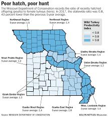 Columbia Missouri Map Turkey Population Down For Fall Hunting Season Local