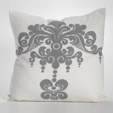Grey Decorative Pillows Decorative Pillows Couture Dreams