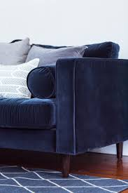 Living Room With Blue Sofa A Living Room Update Our New Velvet Sofa The Sweetest Occasion