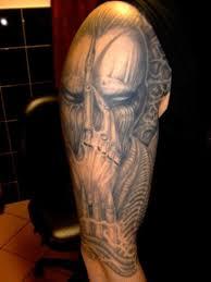half sleeve alien tattoo design for men full and half sleeve