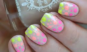 neon polka dots nail art tutorial youtube video