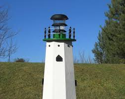 36 solar lighthouse wooden decorative lawn and garden