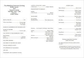wedding programs diy templates tri fold wedding program template beneficialholdings info