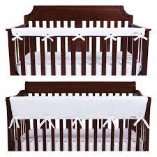 trend lab long narrow cribwrap rail cover white amazon ca baby