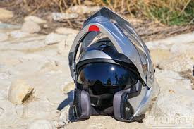 motocross helmet with shield dirt wheels magazine gear grinder scorpion exo at950 helmet
