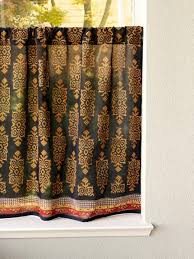 Cafe Tier Curtains Black Turkish Cafe Curtain Designer Kitchen Tier Curtains