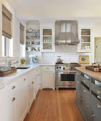 flush toe kick kitchen traditional with stainless steel shelves