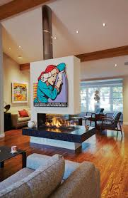 opening up fireplace design possibilities with ortal u0027s cool wall
