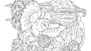 gain power voodoo labyrinth coloring book